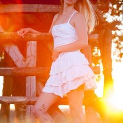 Mirjam Nerger Sommer Outdoor weißes Kleid
