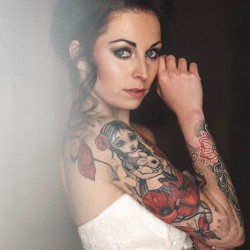 Kity Kaley, Tattoo, Tattoo Model, White dress, Tattoos, Hummeltreff