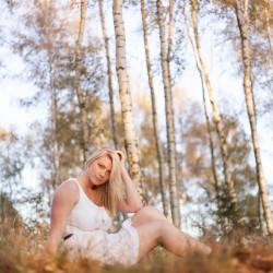 Birkenwald mit Laura in Stollberg - Lugau