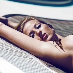 Feld, Wiese, Sonne, Sonnenuntergang, sexy bikini, Pool, Sonne, Sonnensprossen