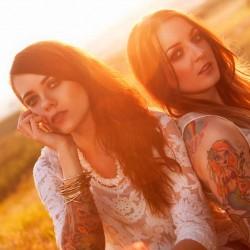 Gitarre, Hippie, Feld, Wiese, Sonne, Sonnenuntergang, Wüstenbrand, Oberlungwitz